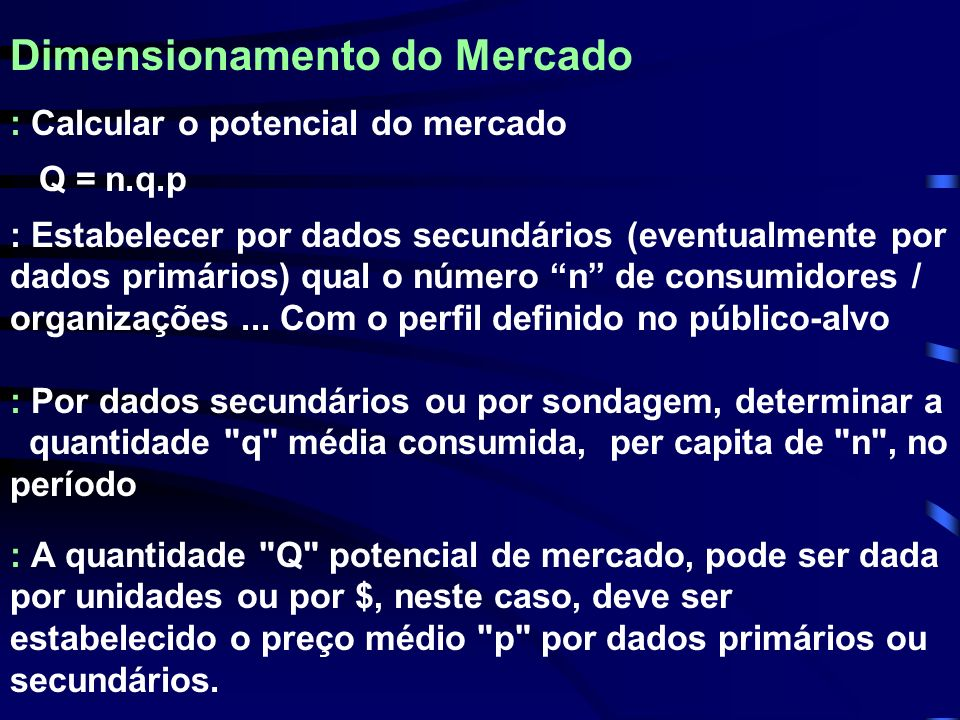 Dimensionamento do Mercado