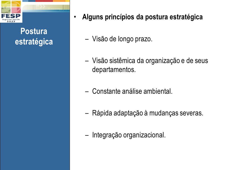 Postura estratégica Alguns princípios da postura estratégica