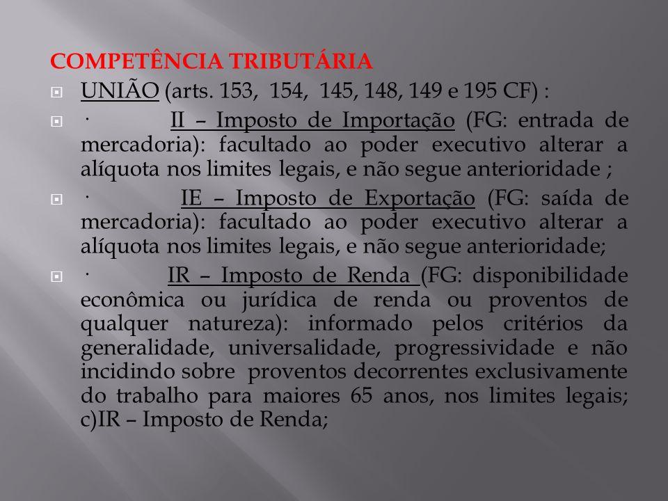COMPETÊNCIA TRIBUTÁRIA