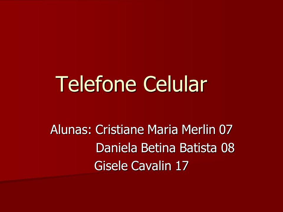 Telefone Celular Alunas: Cristiane Maria Merlin 07