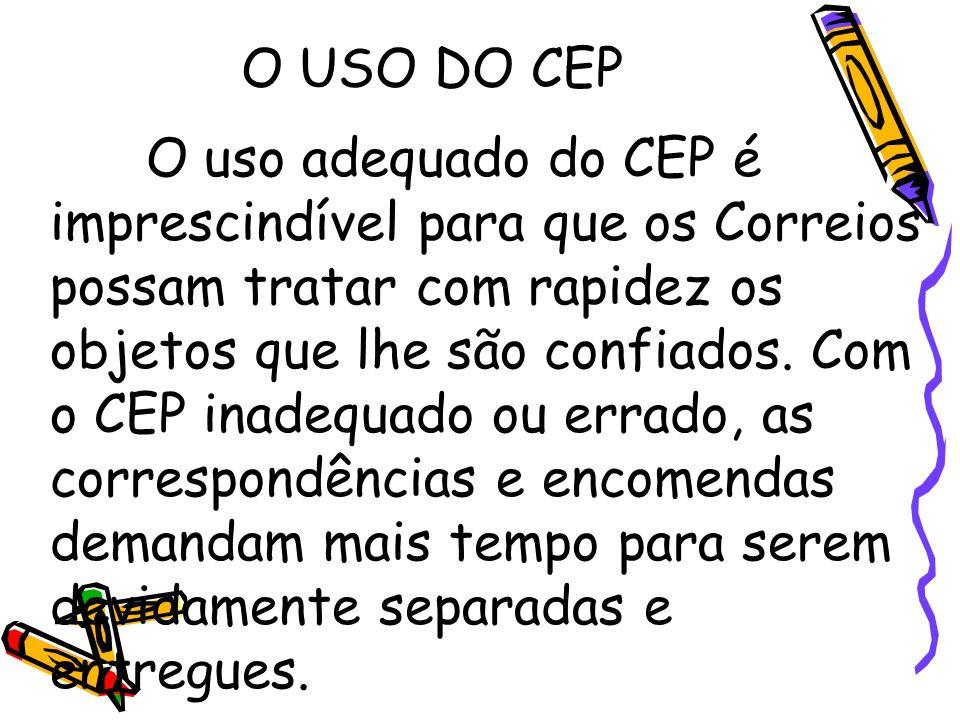O USO DO CEP