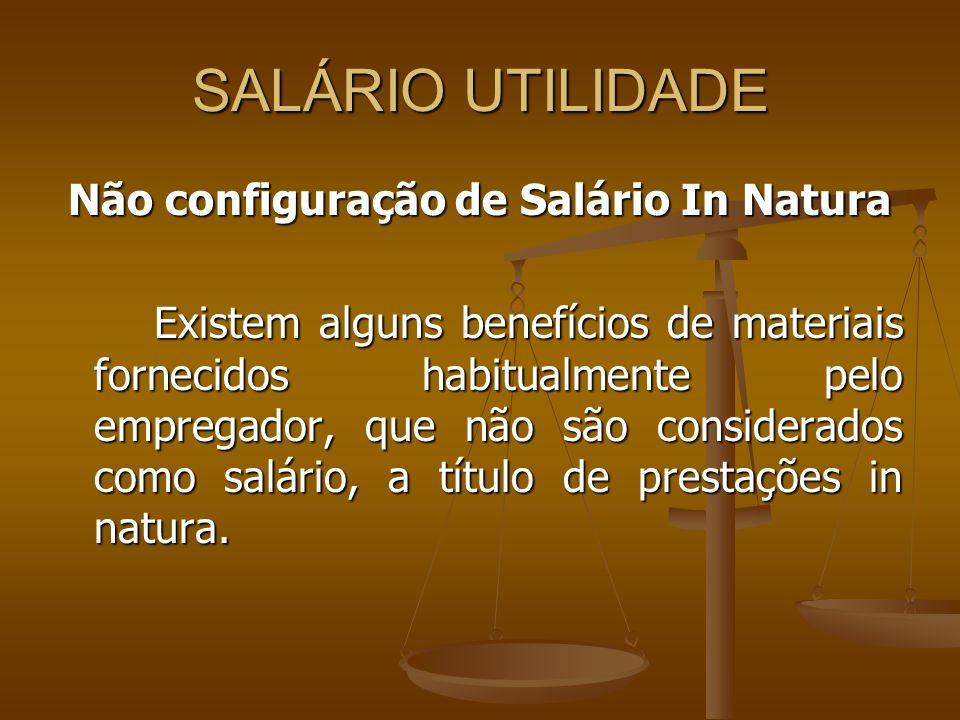 Não configuração de Salário In Natura