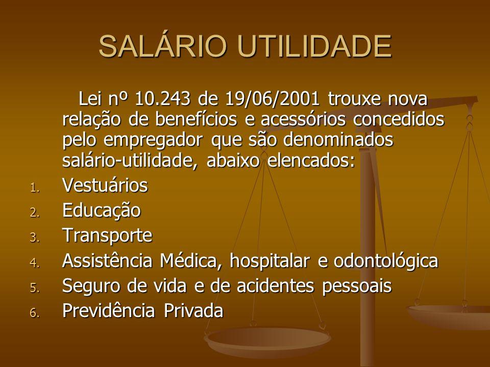 SALÁRIO UTILIDADE