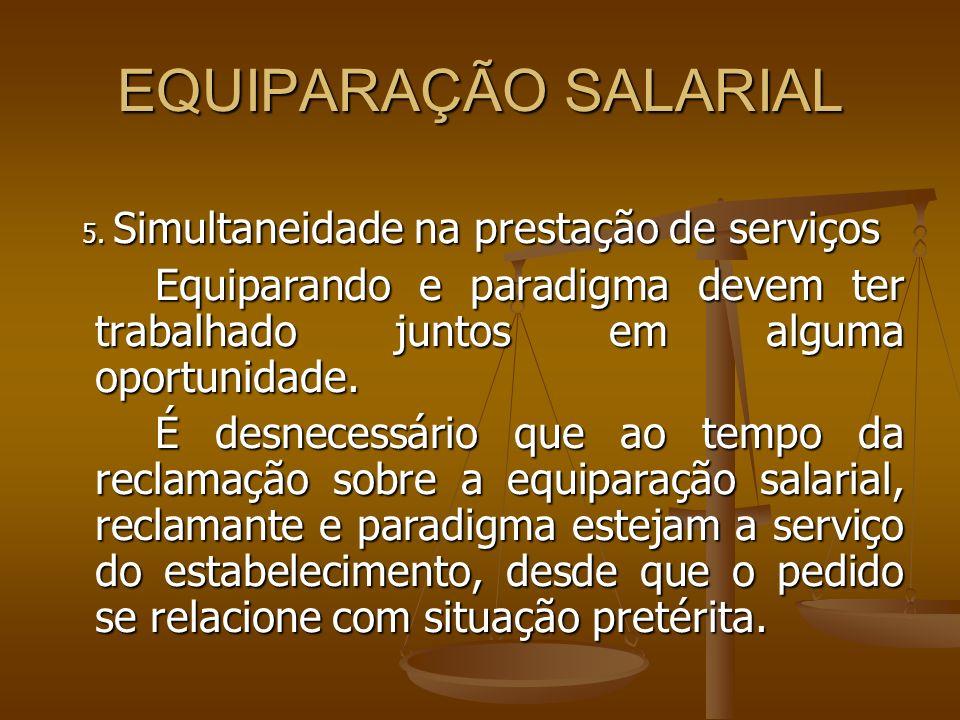 5. Simultaneidade na prestação de serviços
