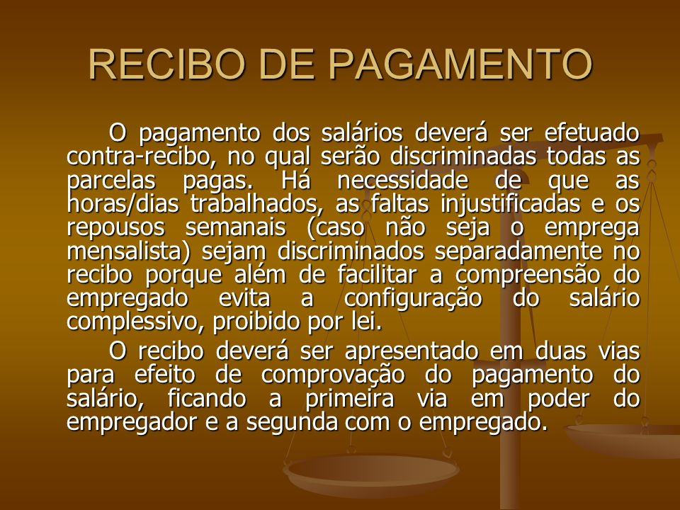 RECIBO DE PAGAMENTO