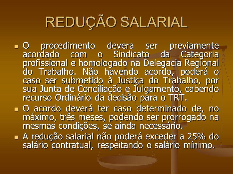 REDUÇÃO SALARIAL