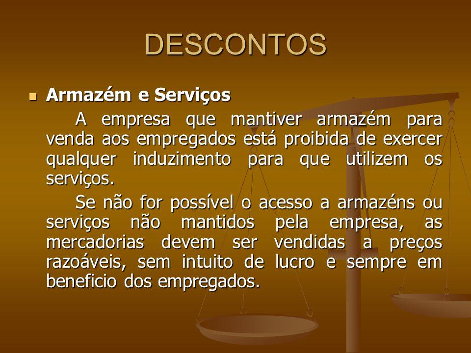DESCONTOS Armazém e Serviços