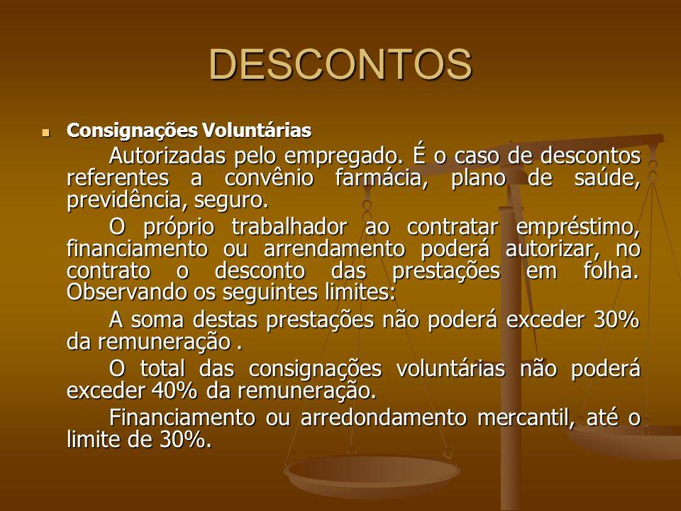 DESCONTOSConsignações Voluntárias.