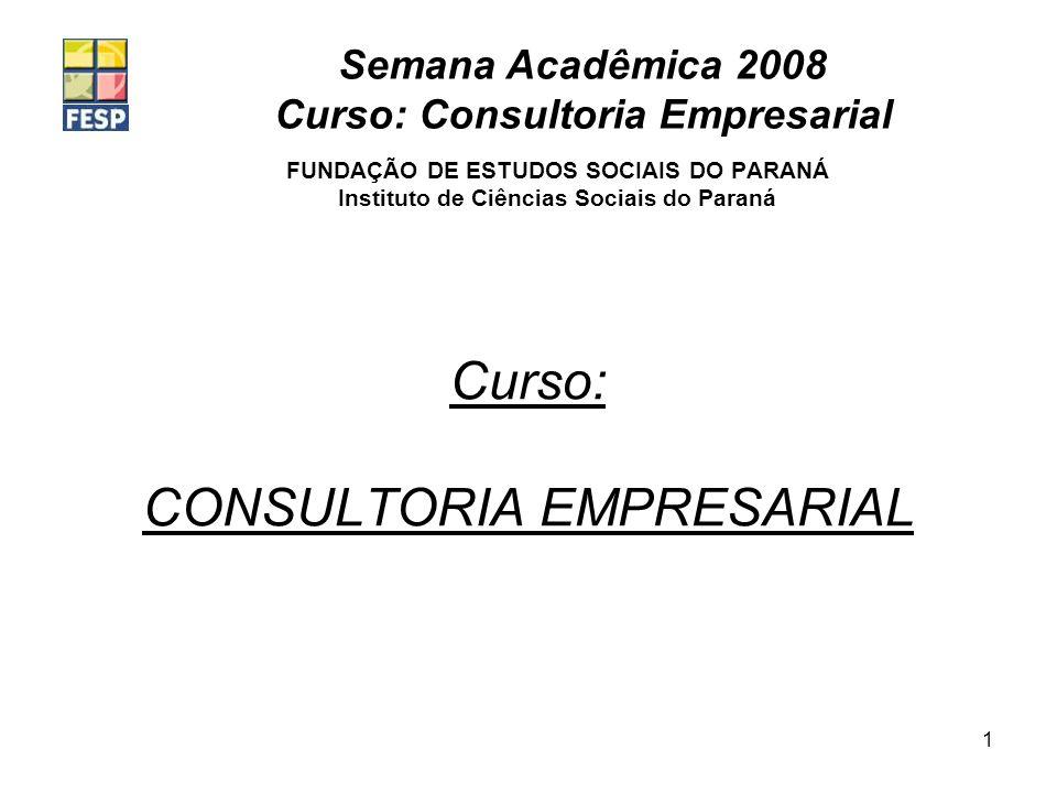 Curso: CONSULTORIA EMPRESARIAL