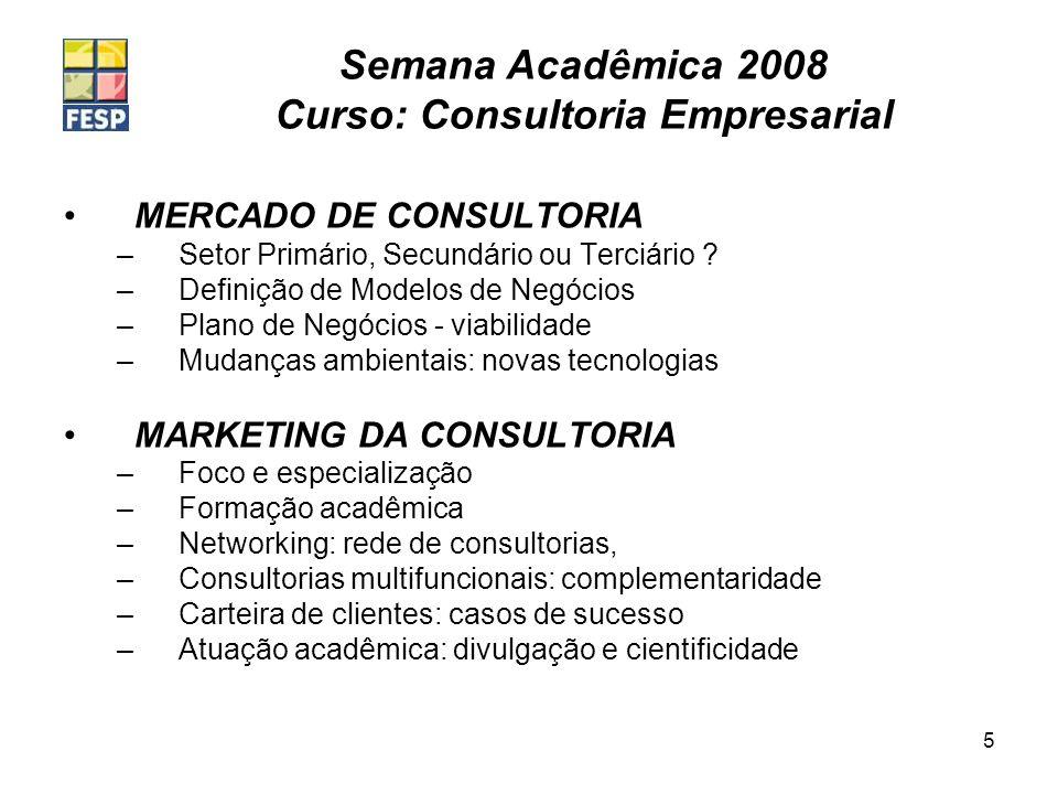 MERCADO DE CONSULTORIA