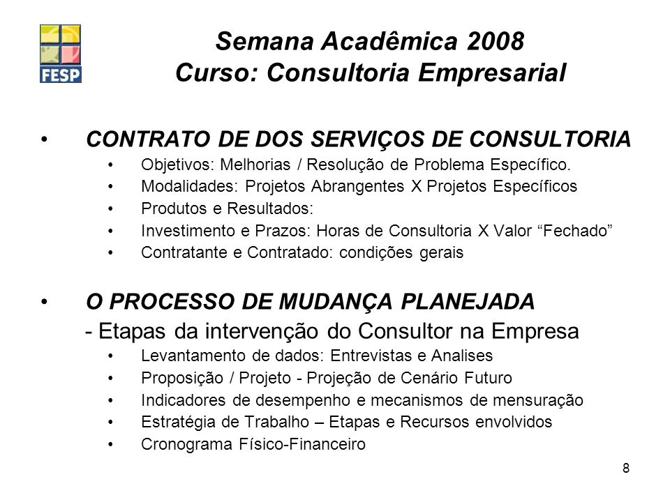 CONTRATO DE DOS SERVIÇOS DE CONSULTORIA