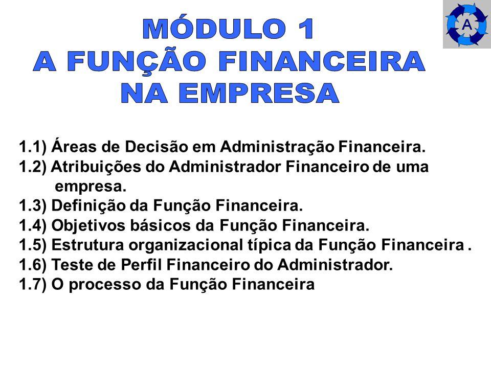 MÓDULO 1 A FUNÇÃO FINANCEIRA NA EMPRESA