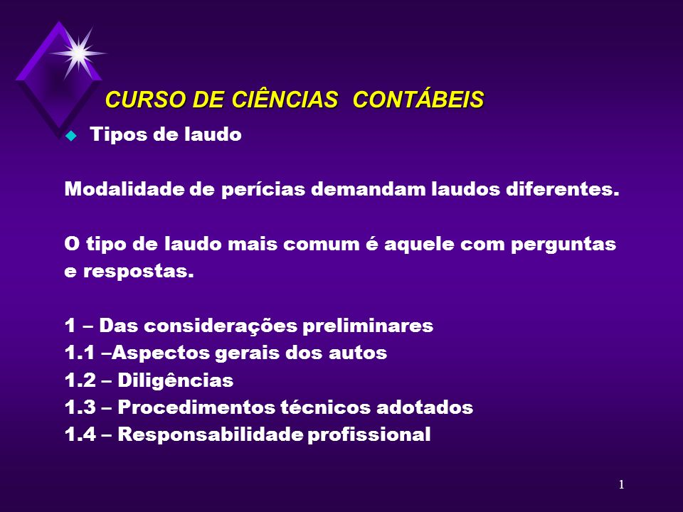 CURSO DE CIÊNCIAS CONTÁBEIS