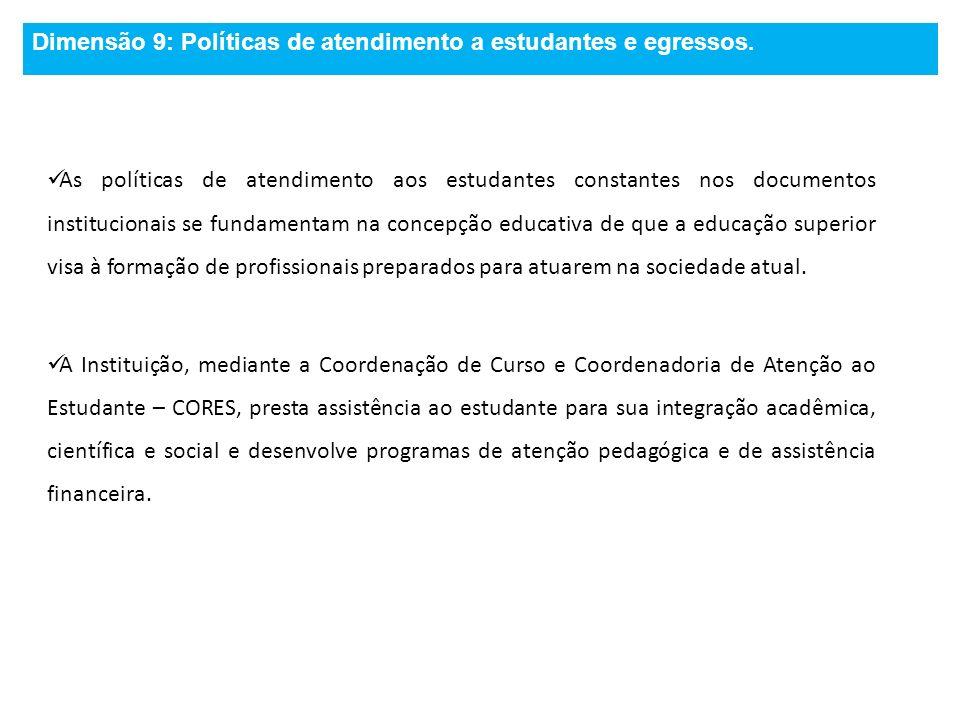 Dimensão 9: Políticas de atendimento a estudantes e egressos.