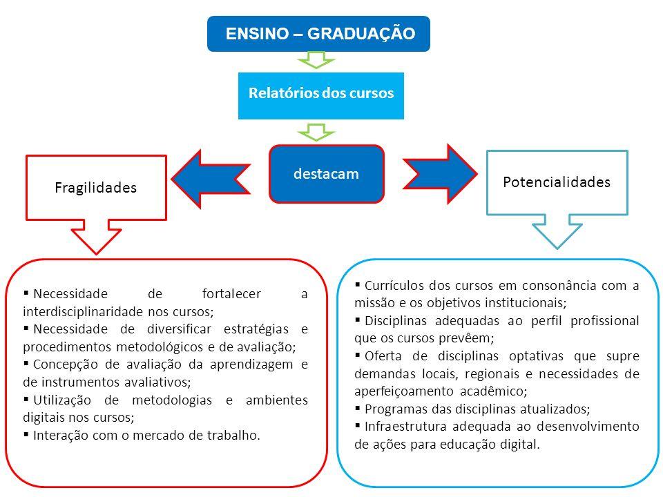ENSINO – GRADUAÇÃO Relatórios dos cursos destacam Potencialidades