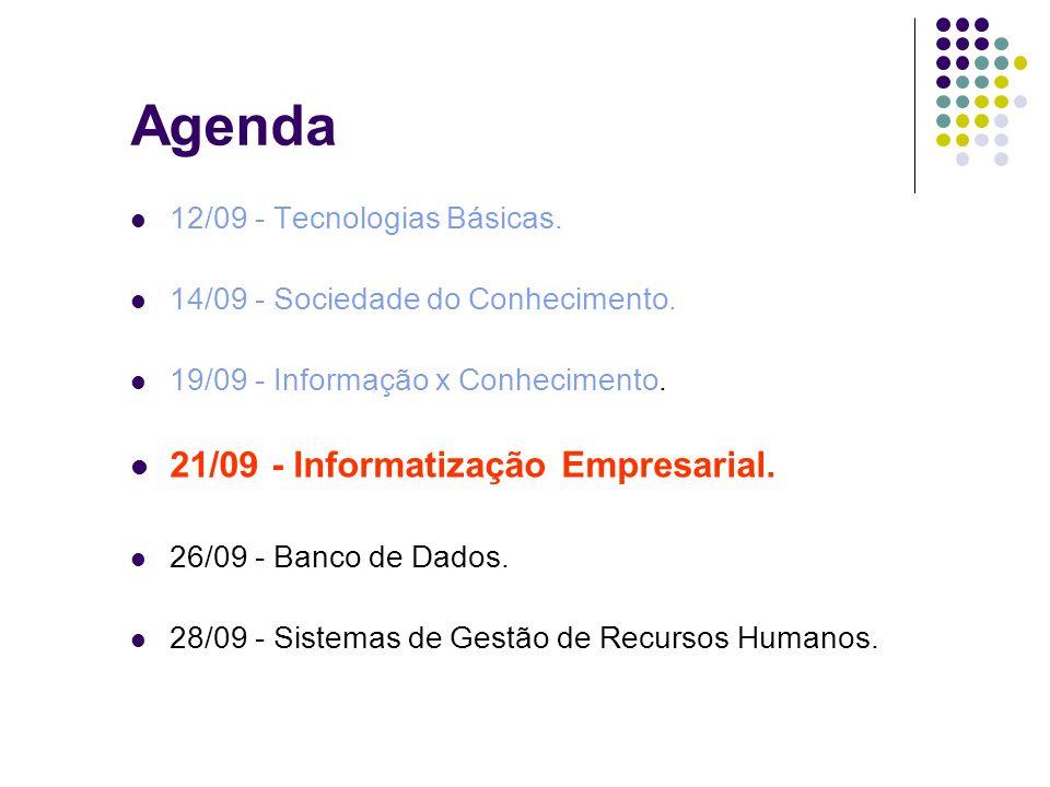 Agenda 21/09 - Informatização Empresarial.