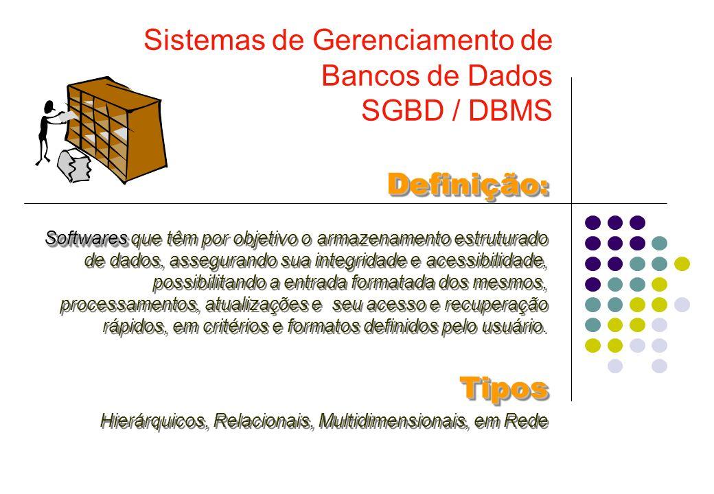 Sistemas de Gerenciamento de Bancos de Dados SGBD / DBMS