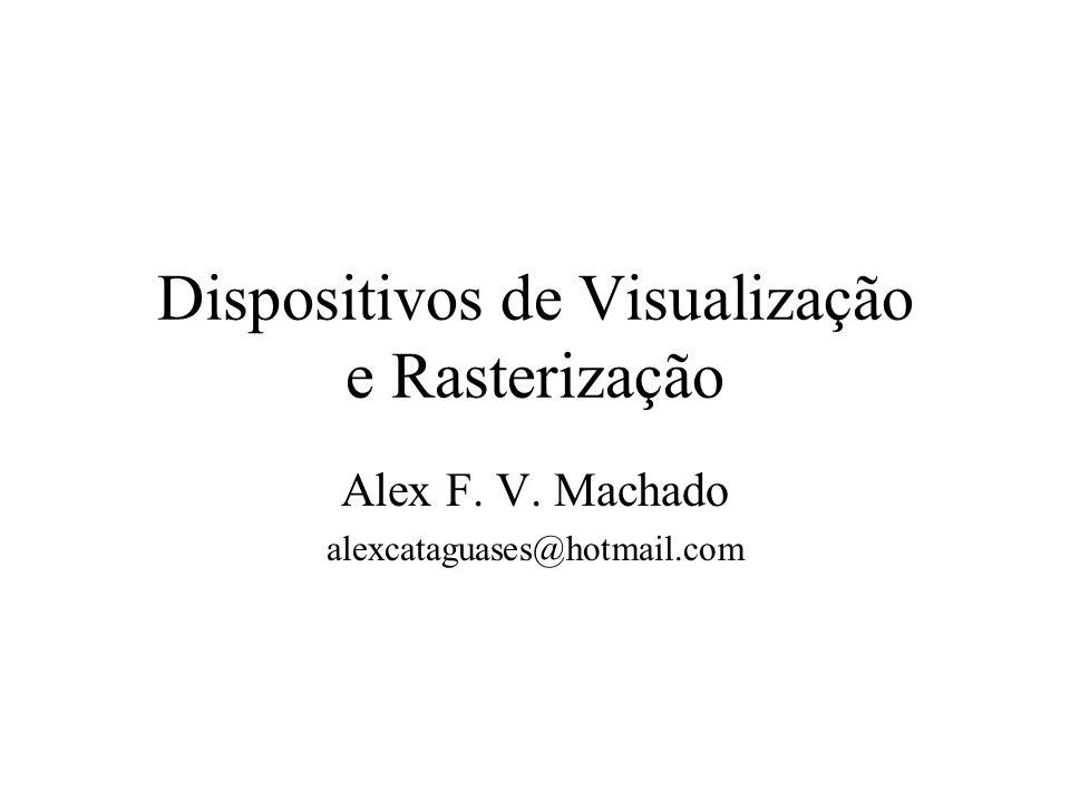 Dispositivos de Visualização e Rasterização