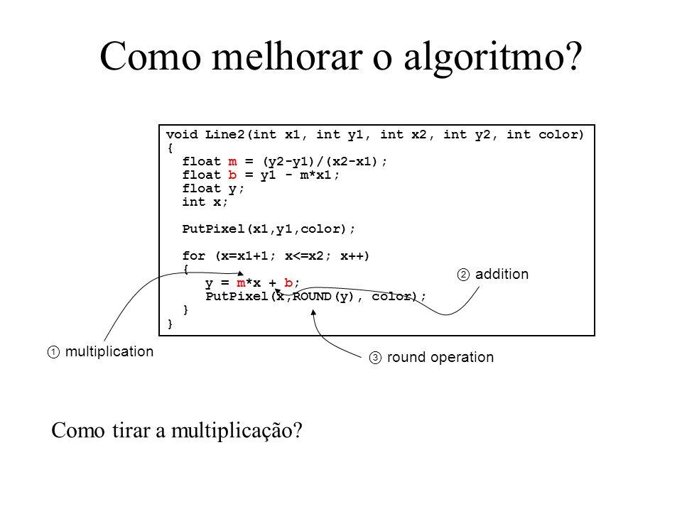 Como melhorar o algoritmo
