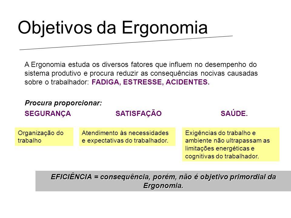 Objetivos da Ergonomia
