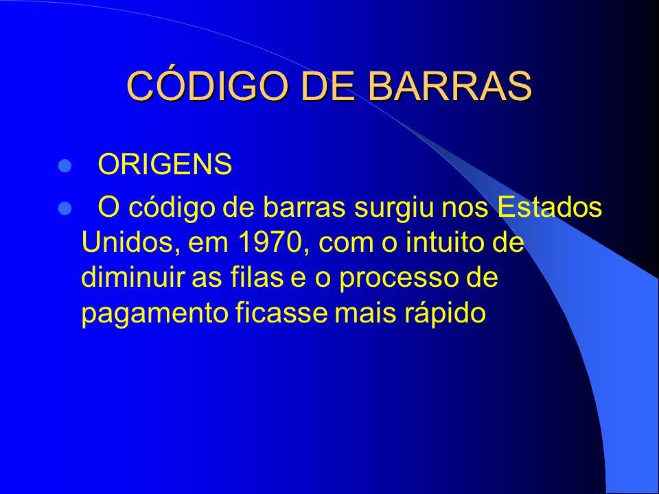 CÓDIGO DE BARRAS ORIGENS