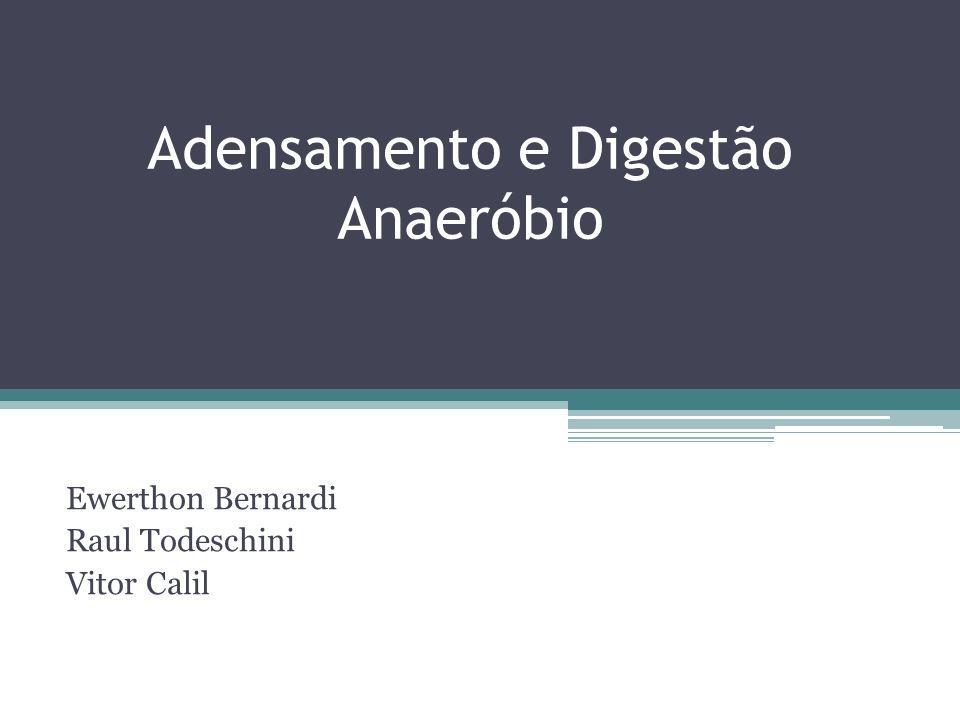 Adensamento e Digestão Anaeróbio