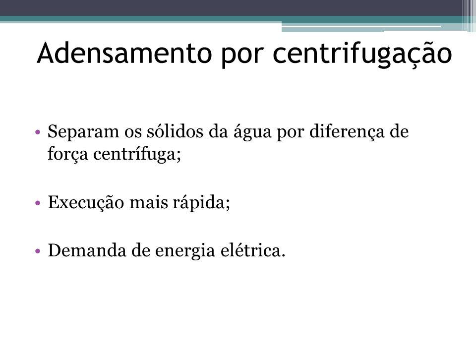 Adensamento por centrifugação