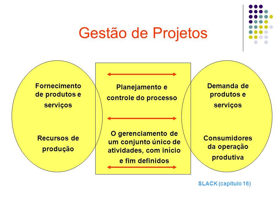 Gestão de Projetos Fornecimento de produtos e serviços