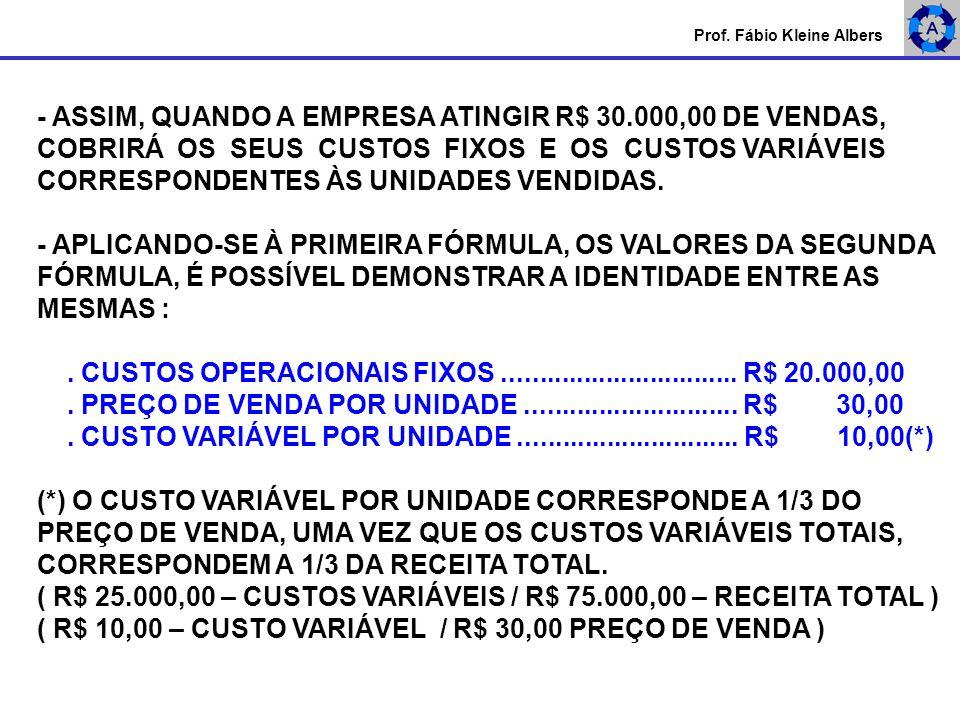 - ASSIM, QUANDO A EMPRESA ATINGIR R$ 30.000,00 DE VENDAS,