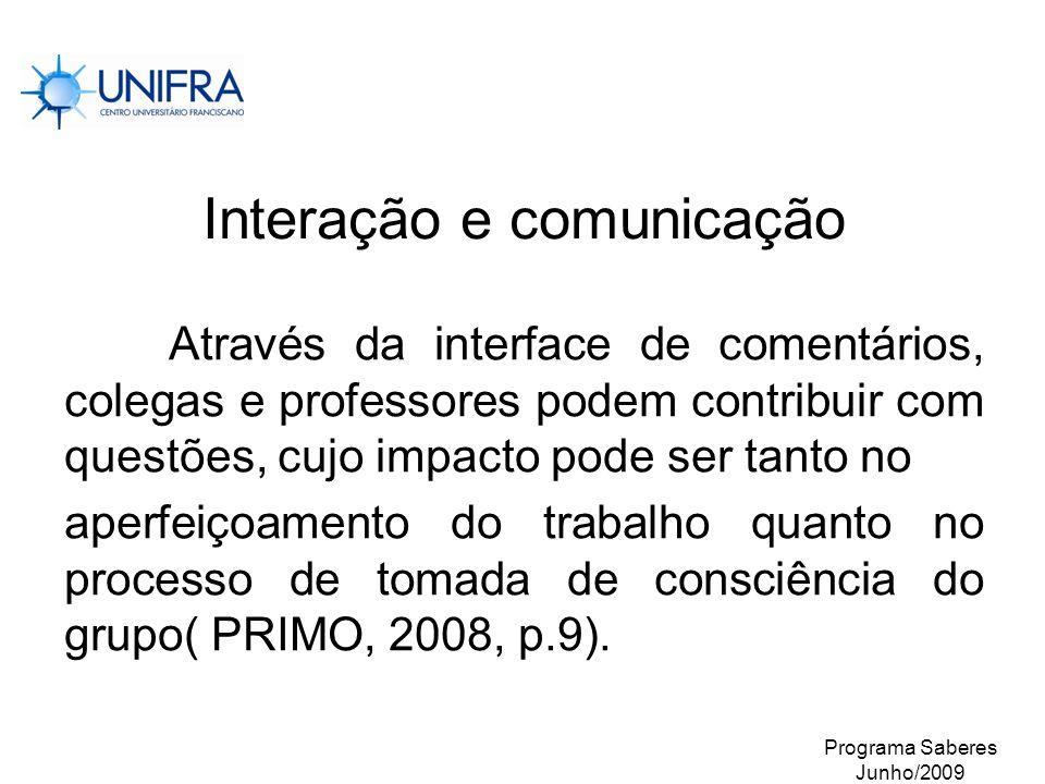 Interação e comunicação