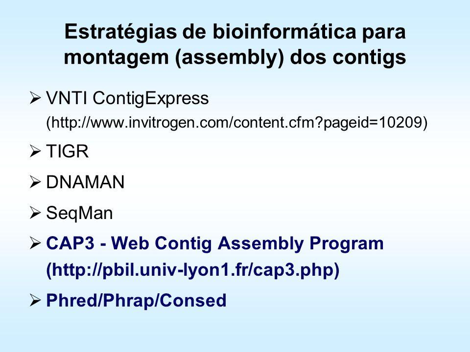 Estratégias de bioinformática para montagem (assembly) dos contigs
