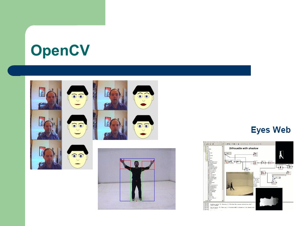 OpenCV Eyes Web