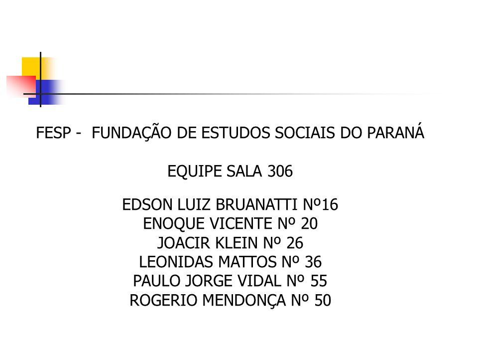 FESP - FUNDAÇÃO DE ESTUDOS SOCIAIS DO PARANÁ EQUIPE SALA 306