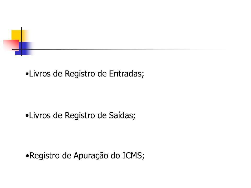 Livros de Registro de Entradas;