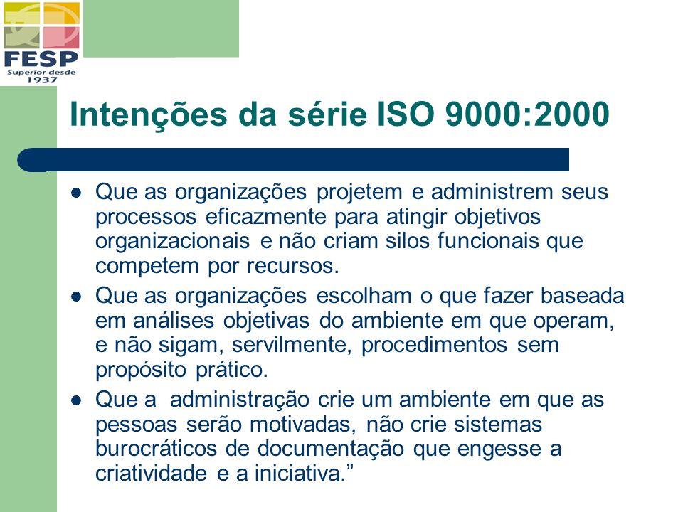Intenções da série ISO 9000:2000