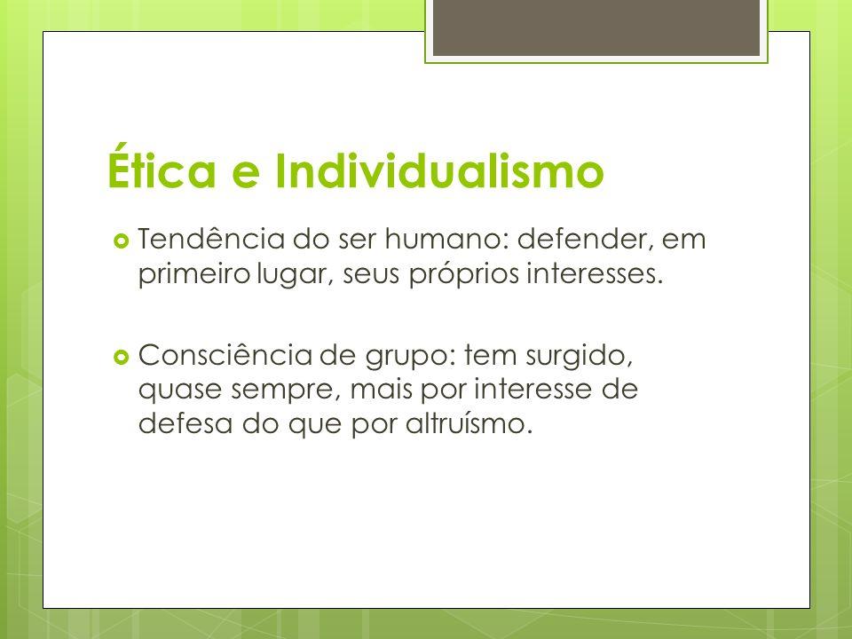 Ética e Individualismo