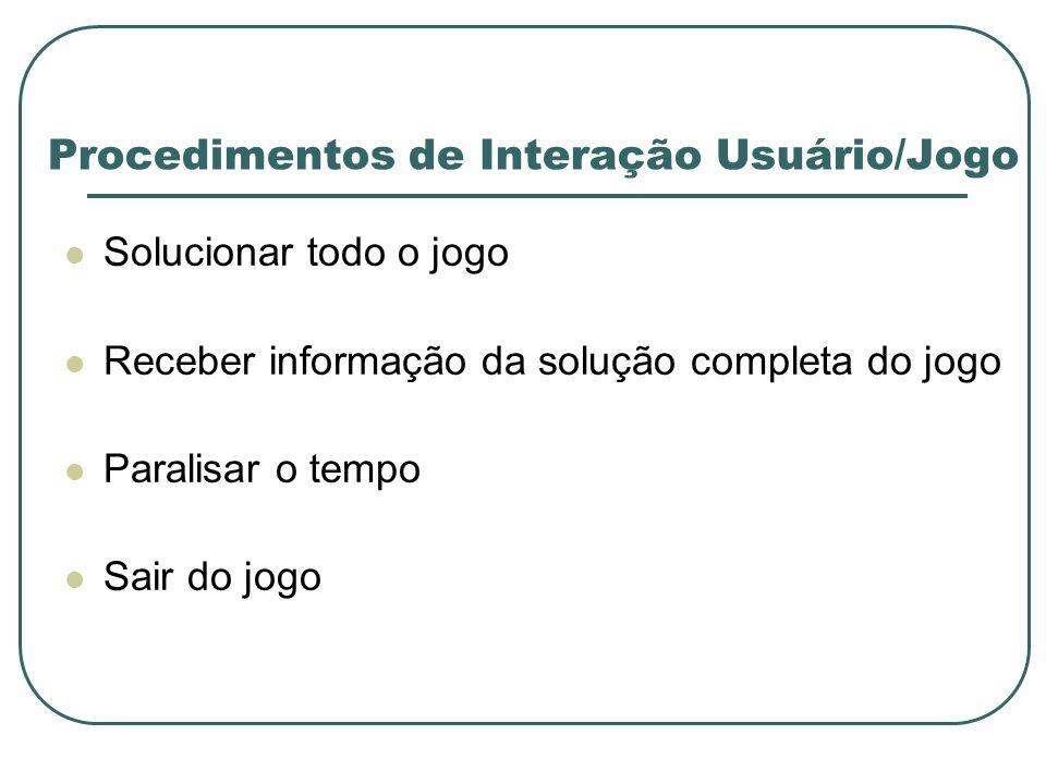 Procedimentos de Interação Usuário/Jogo