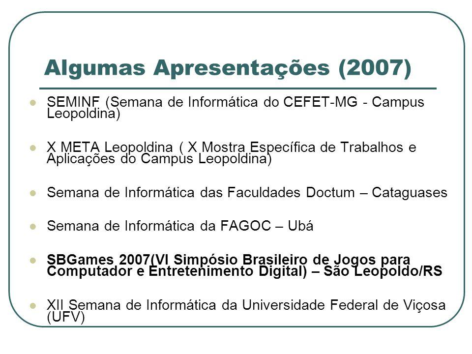 Algumas Apresentações (2007)