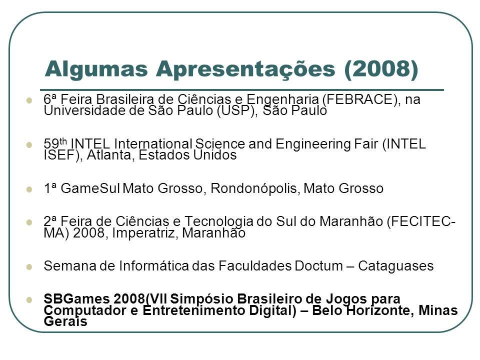 Algumas Apresentações (2008)