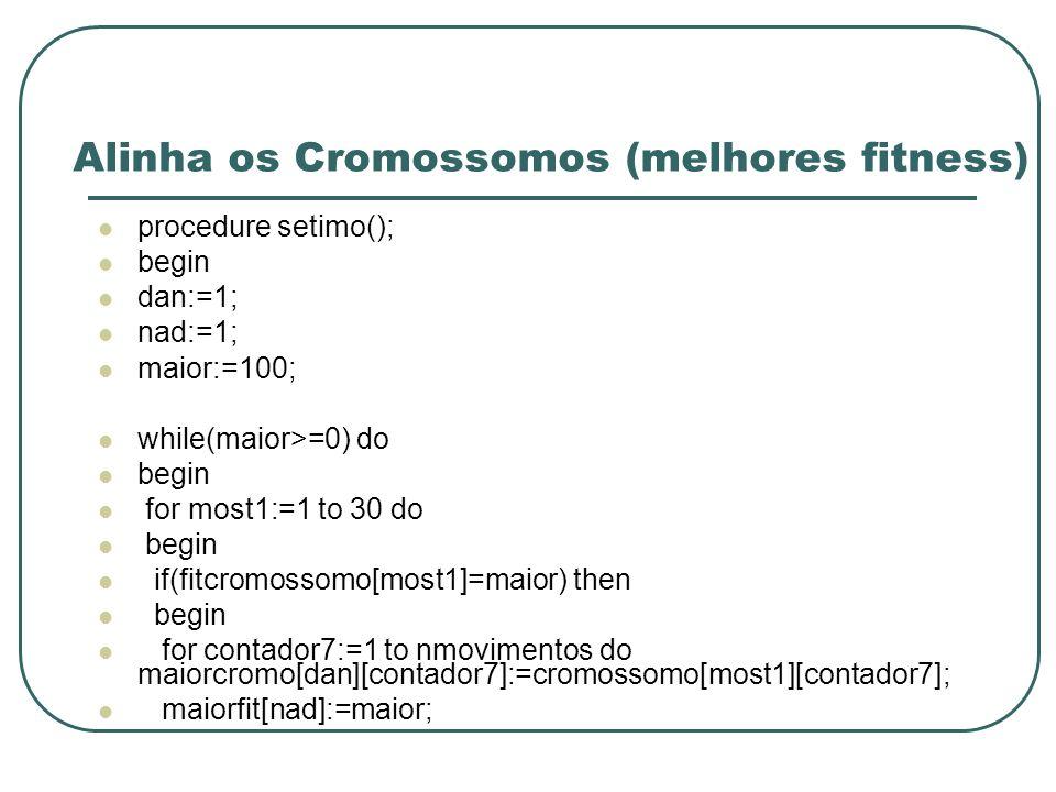 Alinha os Cromossomos (melhores fitness)