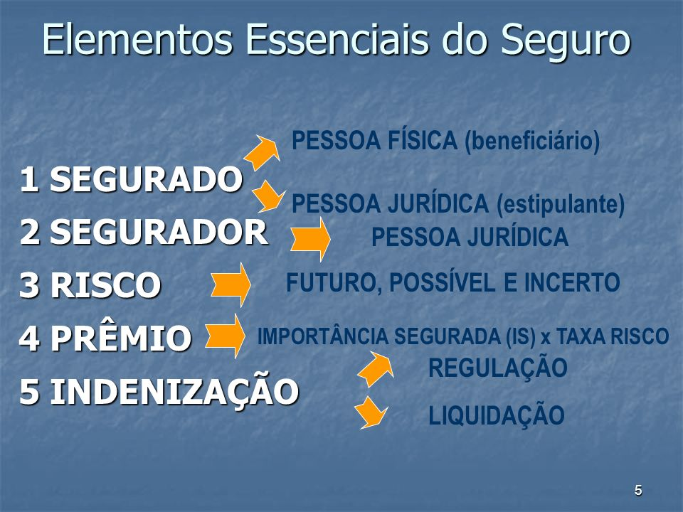 Elementos Essenciais do Seguro