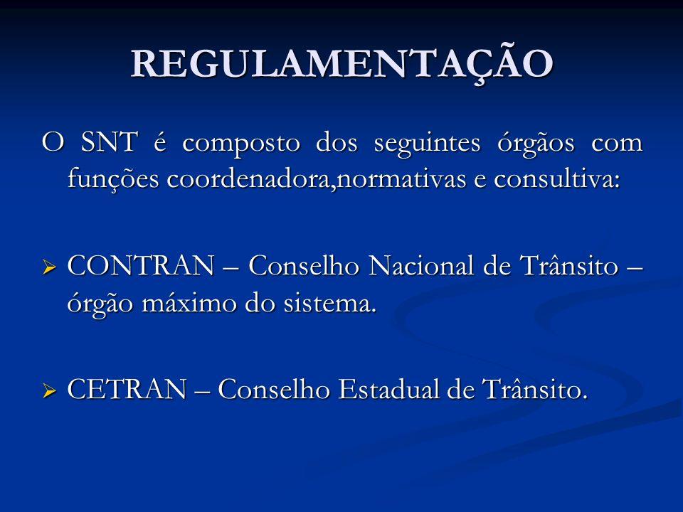 REGULAMENTAÇÃO O SNT é composto dos seguintes órgãos com funções coordenadora,normativas e consultiva: