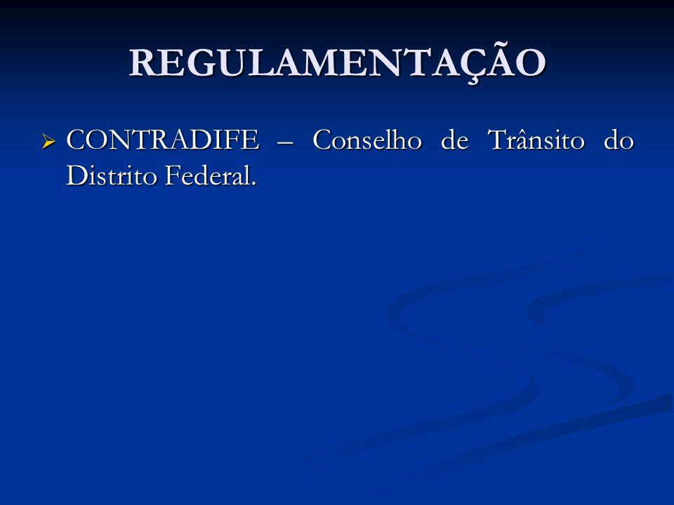 REGULAMENTAÇÃO CONTRADIFE – Conselho de Trânsito do Distrito Federal.