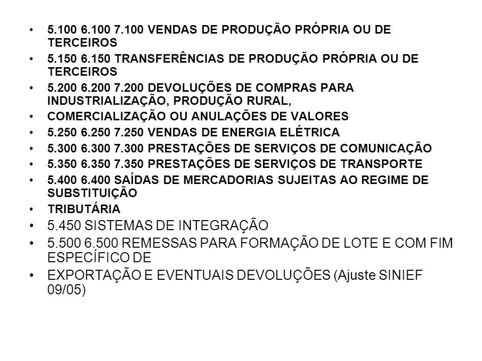 5.450 SISTEMAS DE INTEGRAÇÃO