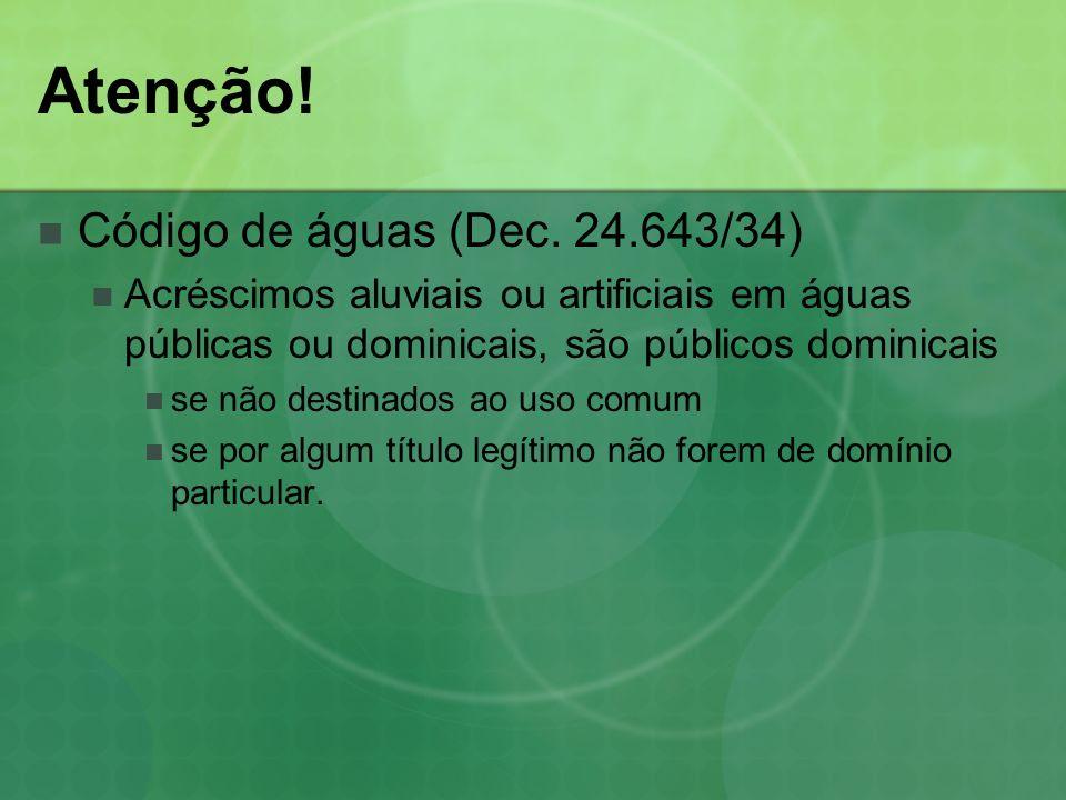 Atenção! Código de águas (Dec. 24.643/34)