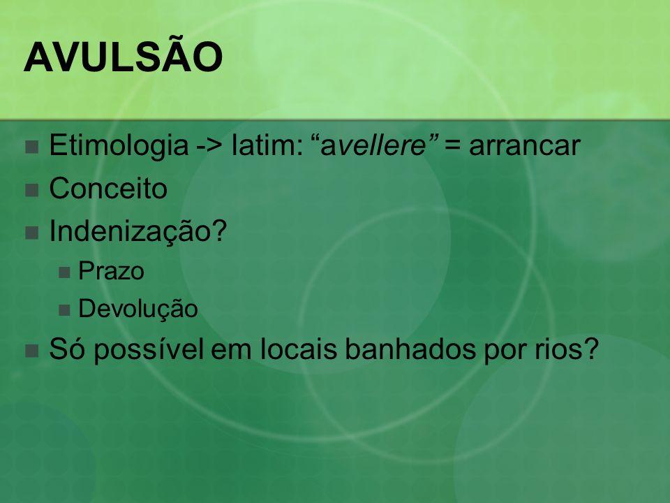 AVULSÃO Etimologia -> latim: avellere = arrancar Conceito