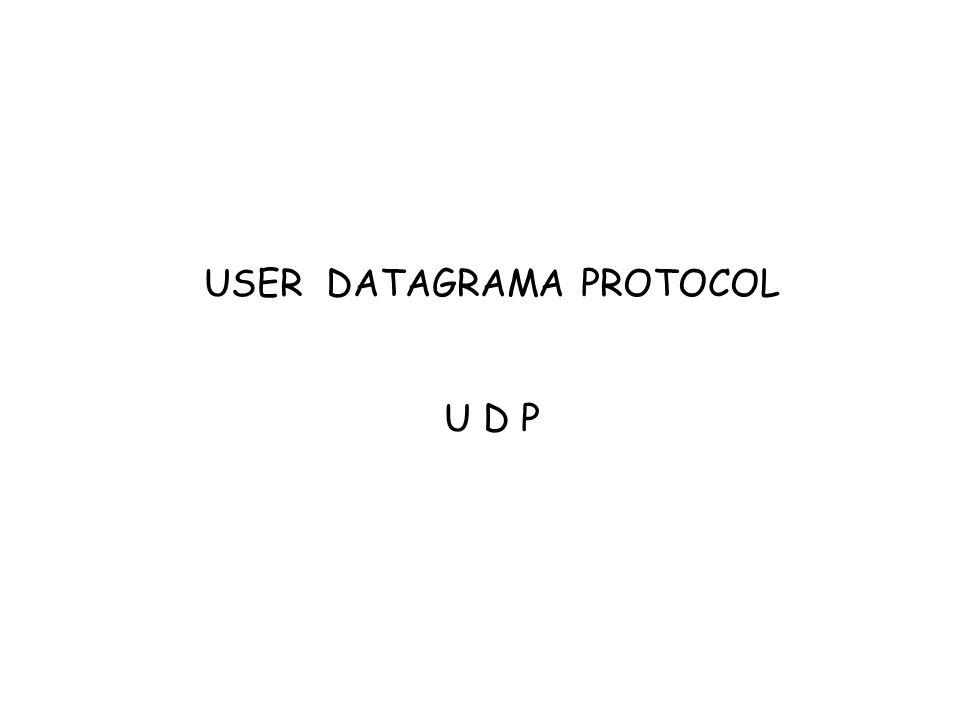 USER DATAGRAMA PROTOCOL