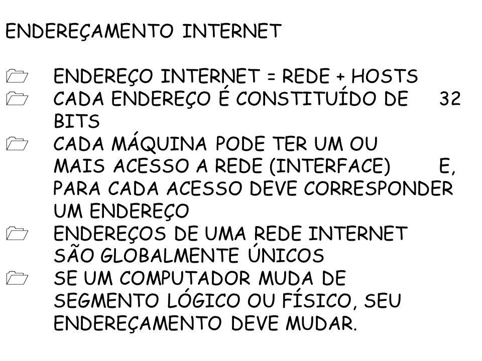 ENDEREÇAMENTO INTERNET