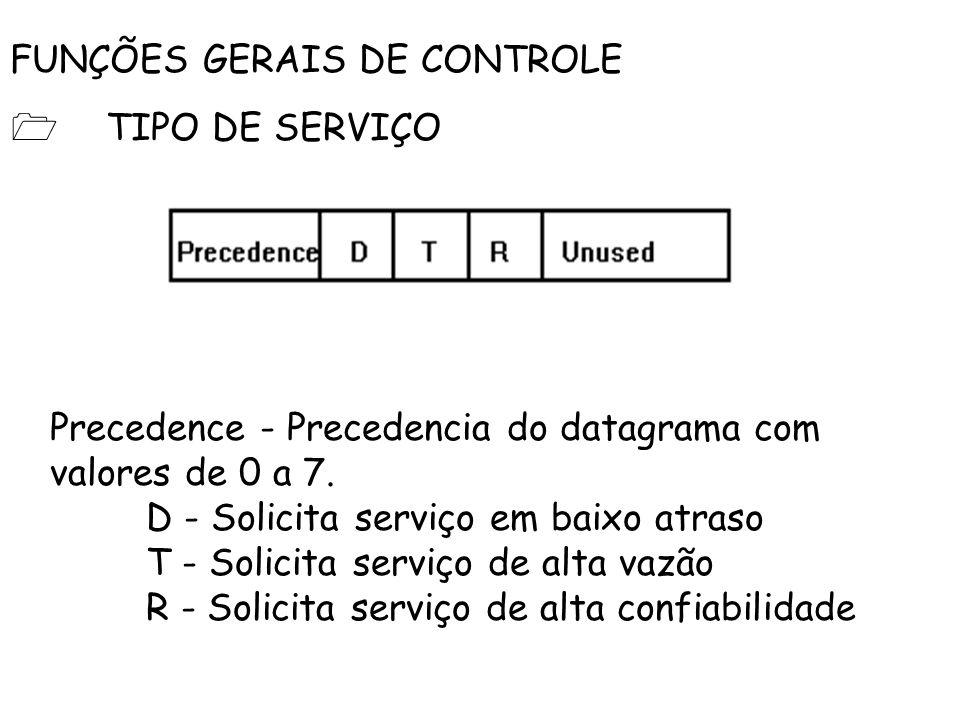 FUNÇÕES GERAIS DE CONTROLE