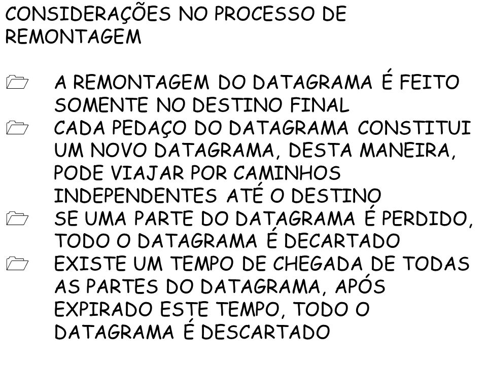 CONSIDERAÇÕES NO PROCESSO DE REMONTAGEM